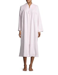Miss Elaine Embroidered Mumu Duster Robe Pink