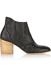 Esquivel Jill Wrinkled Leather Ankle Boots Black