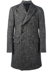 Ermenegildo Zegna Double Breasted Coat Grey