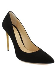 Daniel Meredith Metal Heel Court Shoes Black