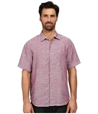 Tommy Bahama Party Breezer S S Crushed Velvet Men's Short Sleeve Button Up Pink