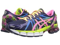 Asics Gel Sendai 3 Blue Purple Pink Flash Yellow Women's Running Shoes