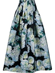 Adam By Adam Lippes Adam Lippes Floral Jacquard Full Skirt Black