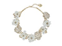 Betsey Johnson Dream Of Floral Frontal Necklace White Necklace