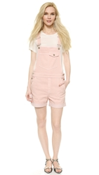 Stella Mccartney Denim Overall Shorts Light Pink