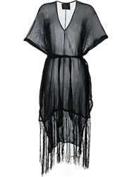 Lost And Found Ria Dunn Fringed Kaftan Black