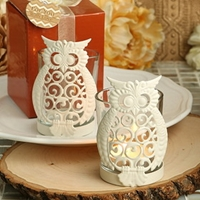 Opentip.Com Fashioncraft 4180 Owl Design Metal And Glass Votive Candleholders