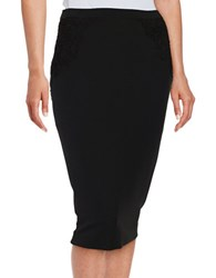 Elie Tahari Crocheted Pencil Skirt Black
