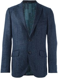 Etro Double Buttoned Formal Blazer Blue