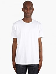 Sunspel White Short Sleeve Crew Neck T Shirt