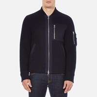 Gant Rugger Men's Woolly Bomber Jacket Navy Blue