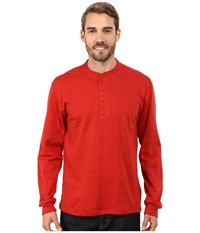 Mountain Khakis Trapper Henley Shirt Engine Red Men's Long Sleeve Pullover