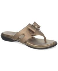 Life Stride Ilsa Thong Sandals Women's Shoes Champagne