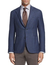 Canali Siena Kei Macro Houndstooth Classic Fit Sport Coat 100 Bloomingdale's Exclusive Blue Choco