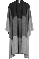 Madeleine Thompson Indil Color Block Cashmere Poncho Gray