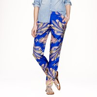 J.Crew Collection Silk Pant In Peacock Paisley