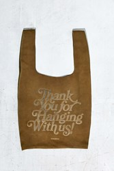 Urban Outfitters Uo Suede Thank You Bag Green