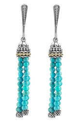 Lagos Women's 'Caviar Icon' Tassel Drop Earrings Turquoise Silver Gold