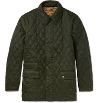 Cordings Quilted Wool Field Jacket Green