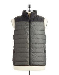 Hawke And Co Packable Puffer Vest Dark Heather Grey