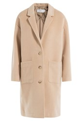 Closed Wool Cashmere Blend Coat Beige