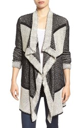 Lucky Brand Women's Cotton Drape Front Cardigan
