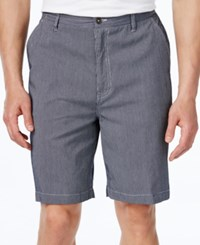 Geoffrey Beene Men's Classic Fit Striped Shorts Navy