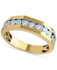 Beautiful Beginnings Men's Diamond Wedding Ring 1 8 Ct. T.W. In 14K Yellow Gold