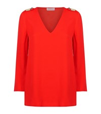 Claudie Pierlot Betty Embellished Top Female Coral