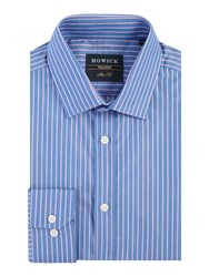 Howick Bollingbrook Stripe Shirt Blue