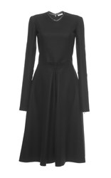 Nina Ricci Flannel Long Sleeve Dress Black