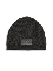 John Varvatos Wool And Cashmere Blend Beanie Black