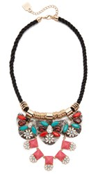 Adia Kibur Elizabeth Statement Necklace Crystal