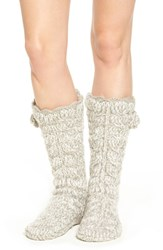 Lemon Women's 'Marshmallow' Slipper Socks With Faux Fur Lining