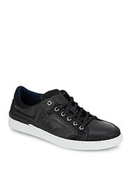 Kenneth Cole Reaction Hitch Hike Leather Sneakers Black
