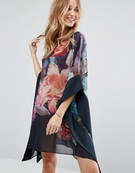 Ted Baker Alexii Focus Bouquet Cover Up Dark Blue Multi