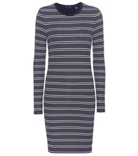 Atm Anthony Thomas Melillo Striped Jersey Dress Black