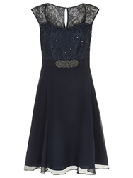 Kaliko Lace And Chiffon Prom Dress Navy Lilac