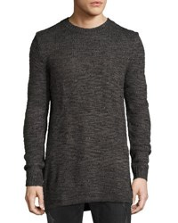 Cheap Monday Astro Waffle Knit Long Sweater Black