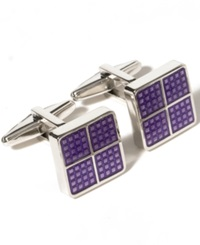 Kenneth Cole Reaction Square Dot Detail Cufflinks Purple
