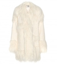 Stella Mccartney Ramona Faux Fur Coat White