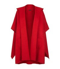 St. John Double Face Hooded Jacket Female Red