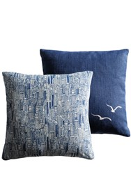Molteni Sky Line And Seagulls Set Of 2 Pillows