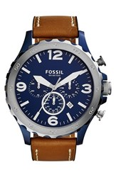Men's Fossil 'Nate Ip' Chronograph Watch 50Mm