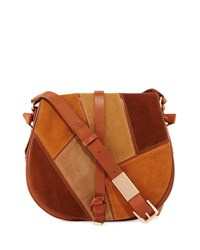 Foley Corinna Daisey Patchwork Leather Saddle Bag Neutral Mu