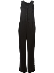 T By Alexander Wang Sleeveless Jumpsuit Black