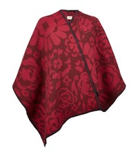Burberry Shoes And Accessories Large Flower Blanket Poncho Female Red