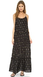 St. Roche Prudence Maxi Dress Black With Gold