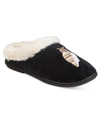 Charter Club Owl Clog Slippers Only At Macy's Black