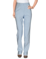 Ermanno Scervino Trousers Casual Trousers Women Sky Blue